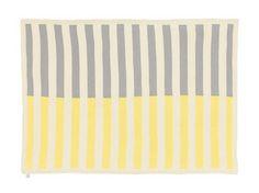 Image of Grey , Yellow and Cream Knitted Blanket - La De Dah Kids