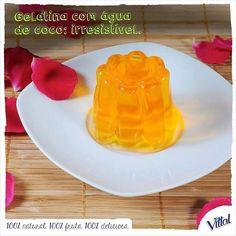 Já pensou em colocar Água de Coco Vittal na preparação da gelatina? Não? A gente garante que ela vai ficar ainda mais saudável e deliciosa. Experimente. #Vittal #DicaDeCozinha #Receita #Gelatina by vittalcoco http://ift.tt/1TH1Rs2