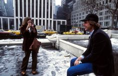 Harrison Ford and Carrie Fisher promoting Star Wars in NYC.