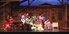 A realized design for the musical Seven Brides for Seven Brothers, produced by Snow College.