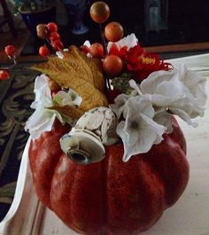 Pumpkin Arrangement Fall Decor by BlessMyNestShop on Etsy, $35.00