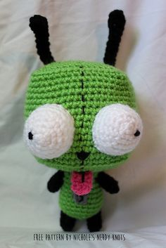 "Gir from Invader Zim - Free Amigurumi Pattern - Click to ""download"" or ""free Ravelry download"" here:  http://www.ravelry.com/patterns/library/gir-from-invader-zim-2"