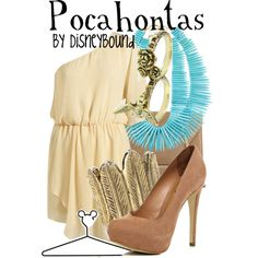 """This is cute on it's own without the the costume title of """"Pocahontas"""" by lalakay on Polyvore #disney"""