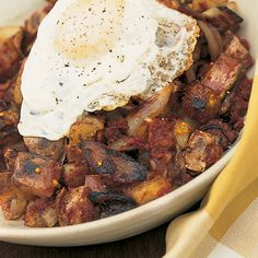 Htc corned beef hash with fried eggs