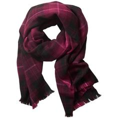 Banana Republic Tartan Scarf (27 AUD) ❤ liked on Polyvore featuring accessories, scarves, burgundy, plaid scarves, banana republic, burgundy scarves, tartan shawl and tartan plaid scarves