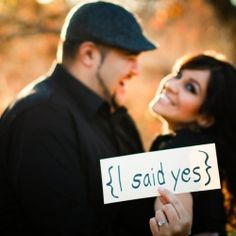 The company Taylor and I booked our engagement pictures through, have a couple chalkboards we can use, so I am looking for cute saying a such to display on them!!