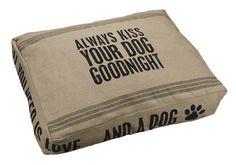 Vintage Sack Dog Bed - Always Kiss Your Dog Goodnight | Morgan Allen Designs