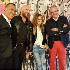 "@drawbertson's photo: ""My loverly cohosts @mrjoezee @sergenormant @sarahjessicaparker celebrating Serge's awesome new salon !"""