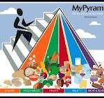 The nutrition pyramid is now called USDA's My Plate. It's a huge improvement over the confusing and hard to understand pyramid from before.