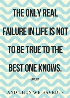 """The only real failu"