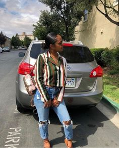 date casual outfit Casual School Outfits, Chill Outfits, College Outfits, Spring Outfits, Trendy Outfits, Cute Outfits, College Girls, Black Girl Fashion, Look Fashion