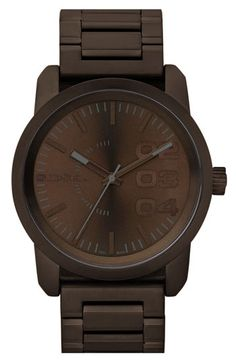 men s burberry check stamped chronograph leather strap watch 42mm men s fashion diesel® large round bracelet watch available at nordstrom