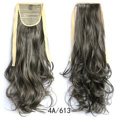 Wavy Ponytail, Drawstring Ponytail, Ombre Hair Extensions, Queen Hair, Long Curly, Synthetic Hair, Hair Pieces, Black Hair, Fashion Women