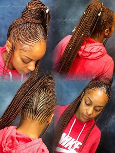 Braided Ponytail Tribal Style Braids Lemonade Braids Braids intended for dimensions 1280 X 1712 Long Braided Ponytail Hairstyles - Beautifying yourself Box Braids Hairstyles, Lemonade Braids Hairstyles, Braided Ponytail Hairstyles, My Hairstyle, Braid Ponytail, Fishtail Braids, School Hairstyles, Hairstyles 2016, Twist Braids