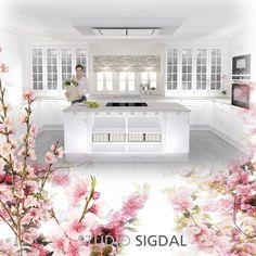 Klassisk kjøkkeninnredning i skandinavisk stil. Modell Bello fra Sigdal Kjøkken. Designer er Nina Th. Oppedal, Studio Sigdal Fredrikstad.