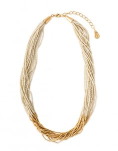 Luxe Bead Multistrand Necklace 19""