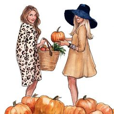 The '16 October calendar girls have been waiting all year for this day. It's finally seasonally appropriate to indulge in fall gourd mania. Just look at those smirks - like kids in a pumpkin shop
