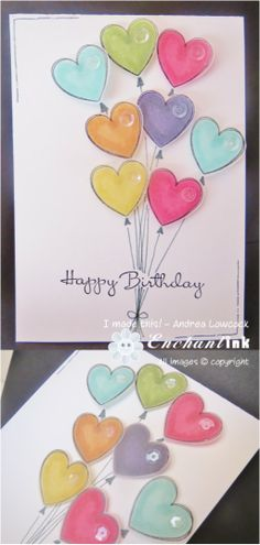 Handmade Birthday Card ... Stampin' Up! - Hearts a Flutter ... CASE via Pinterest - http://www.pinterest.com/pin/461196818062293278/ ... EnchantINK