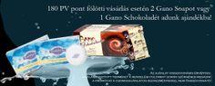 Gano Schokolade vagy 2 Gano szappan jár ajándékba 180 PV poont fölötti rendelés esetén