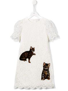 Dolce & Gabbana Kids Bengal cat lace dress