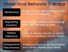 Dialectical Behavior Therapy Skills