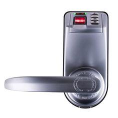 Adel Keyless Biometric Commercial Fingerprint Keypad Lock for Entrance Door, Garage or Office (Left And Right Handle, Metal Material) | Key Code Locks