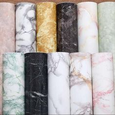 Marble Effect Contact Paper Adhesive Film Self Peel-Stick Decor Wall Covering