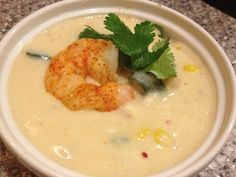 Roasted Shrimp and Poblano Corn Chowder (a variation of D-Pop's recipe)