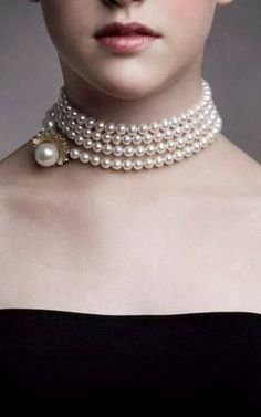 Pearls ~ wrapped into a choker.