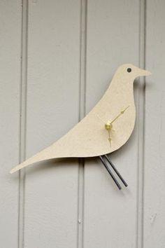 DIY Eames Bird Clock | Dotcoms for Moms