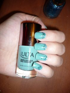 Nail Lacquer by ULTA in Mint Condition with Nail Enamel by Revlon in Radiant