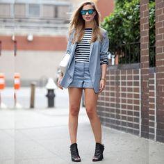 Conjuntinho + Listras  #stealthelook #look #looks #streetstyle #streetchic #moda #fashion #style #estilo