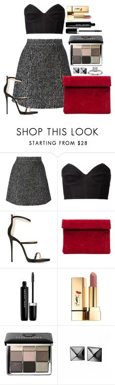 """""""Untitled #1433"""" by fabianarveloc on Polyvore featuring Ermanno Scervino, Fleur du Mal, Giuseppe Zanotti, Marc Jacobs, Yves Saint Laurent, Bobbi Brown Cosmetics, Waterford and Blue Nile"""
