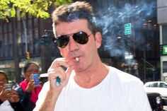 Simon Cowell is a heavy smoker..