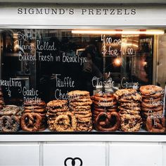 Sigmunds pretzels. Ave B nyc