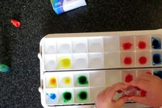 Coloured Ice Play