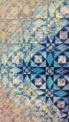 close up, Storm at Sea, 2014 Tokyo Quilt Festival - photo by Molly Stevens Longarm Quilting, Free Motion Quilting, Machine Quilting, Quilting Projects, Quilting Designs, Quilting Ideas, Crazy Quilting, Star Quilts, Scrappy Quilts