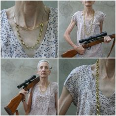Bullet Chain Necklace #Brass, #Bullet, #Chain, #Granny, #Gun, #Necklace, #Rifle