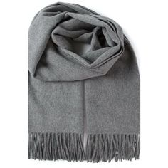 Dark Gray Wool Scarf ($66) ❤ liked on Polyvore featuring accessories, scarves, grey, woolen shawl, wool shawl, wool scarves and woolen scarves