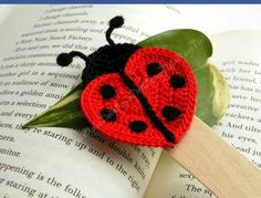 ༺✿  ✿༻  Aplique de Joaninha em Crochê -   /    ༺✿  ✿༻ Apply to Ladybug with Crochet -