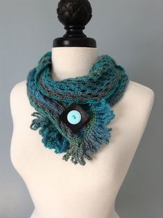 Crocheted Scarf Art by LKCreativeConcepts on Etsy, $24.00