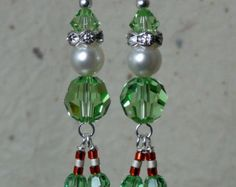 Holly Leaves & Berries Holiday Earrings by baublesbybethann