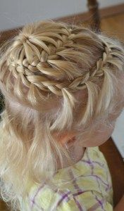 starburst braid on little hair
