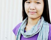 Woven Scarf (Grey with Bright Stripes, by Jan)
