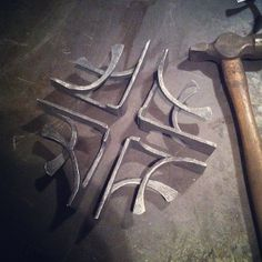 Shelf brackets. #blacksmith #manitoba #handforged #handmade #steel