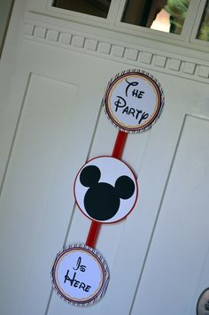 Mickey Mouse Birthday Party - Door Sign  I want this for my front door year round! :)