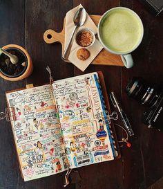 Life in January 2017 #midoritravelersnotebook#diary#journal#midori#travelersfactory#文具#手帳#journaling#planneraddict#wreckthisjournal