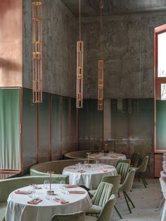 Crosby Studios' Pink Mama Restaurant in Moscow A pink and green palette softens the industrial interiors of this Stalinist-era building. Restaurant Seating, Restaurant Concept, Moscow Restaurant, Lebanon Restaurant, Pink Restaurant, Restaurant Ideas, Pallet Seating, Restaurants, Stools For Kitchen Island