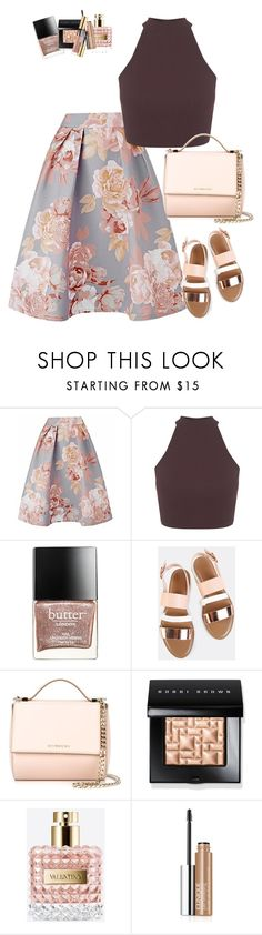 """What to wear when you say goodbye"" by red-bipolarity ❤ liked on Polyvore featuring Miss Selfridge, Butter London, Givenchy, Bobbi Brown Cosmetics, Valentino, Clinique and Yves Saint Laurent"