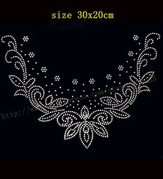 Shop our best value Collar Motif on AliExpress. Check out more Collar Motif items in Home & Garden, Patches, Women's Clothing, Men's Clothing! And don't miss out on limited deals on Collar Motif! Embroidery Neck Designs, Pearl Embroidery, Tambour Embroidery, Embroidery Patterns, Hand Embroidery, Machine Embroidery, Rhinestone Art, Rhinestone Transfers, Flower Patterns